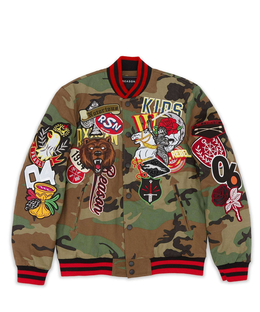 REGIONALS VARSITY JACKET - CAMO Reason Clothing