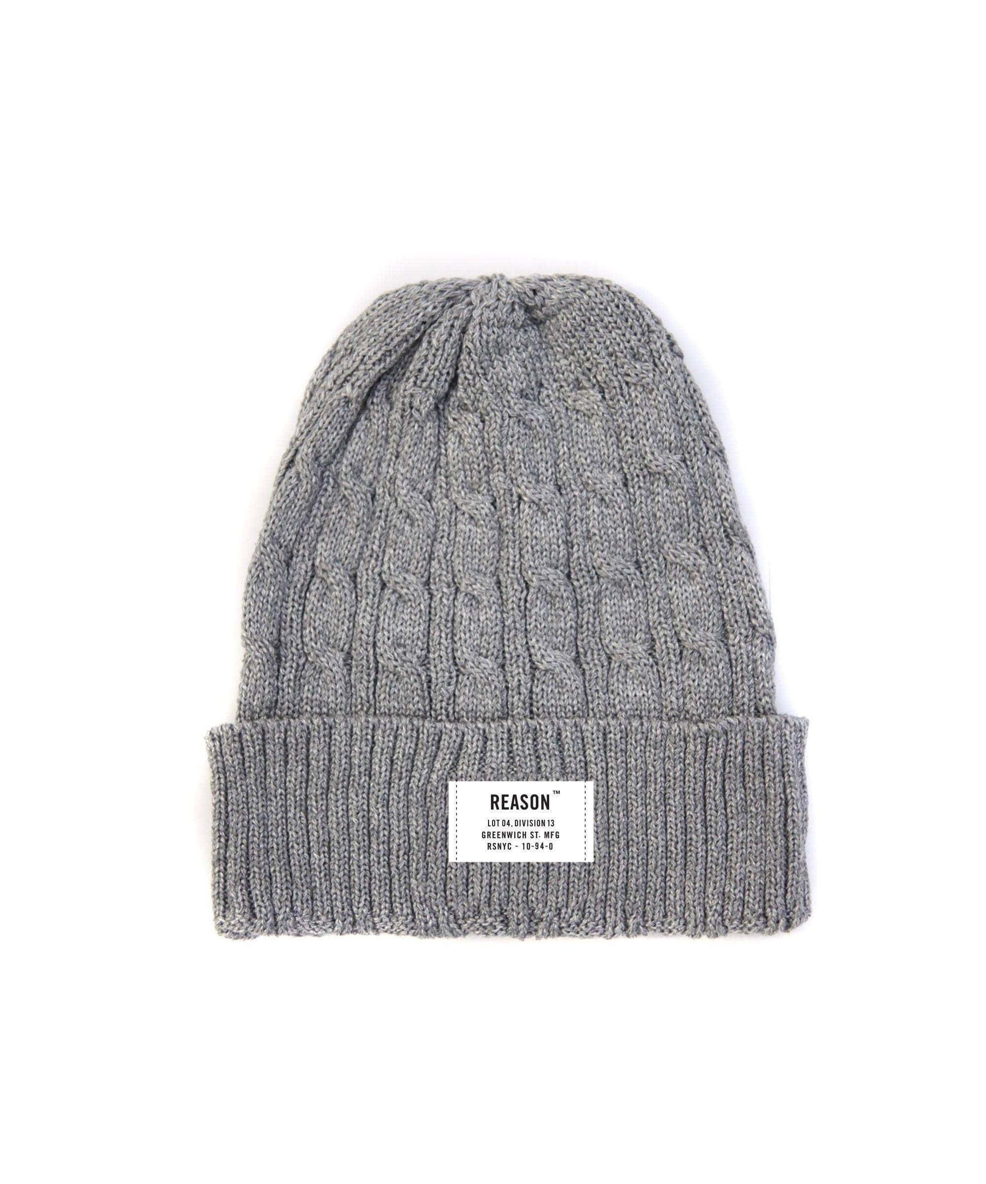 HEATHER GREY FISHERMAN BEANIE - Reason Clothing