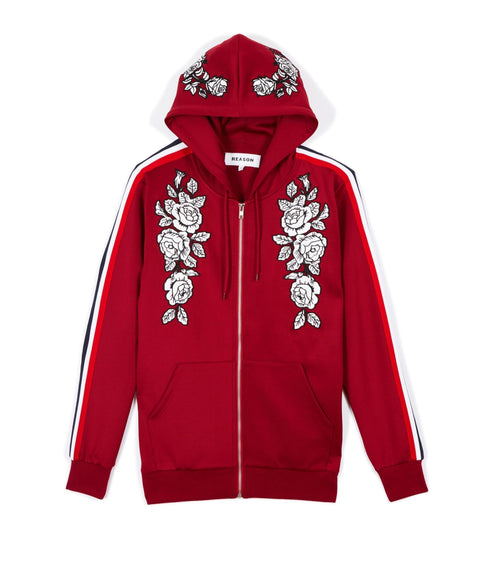 Women's Roses Track Hood - Reason Clothing