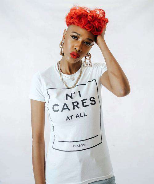 WOMEN'S NO1 CARES BOX TEE - WHITE