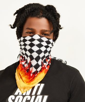 FIRE CHECKER BANDANA