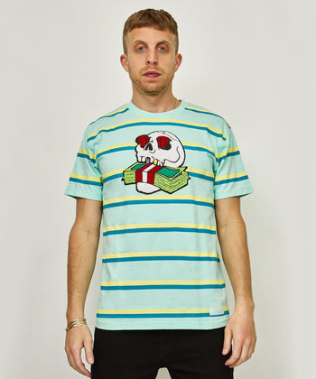 MONEY SKULL STRIPE TEE