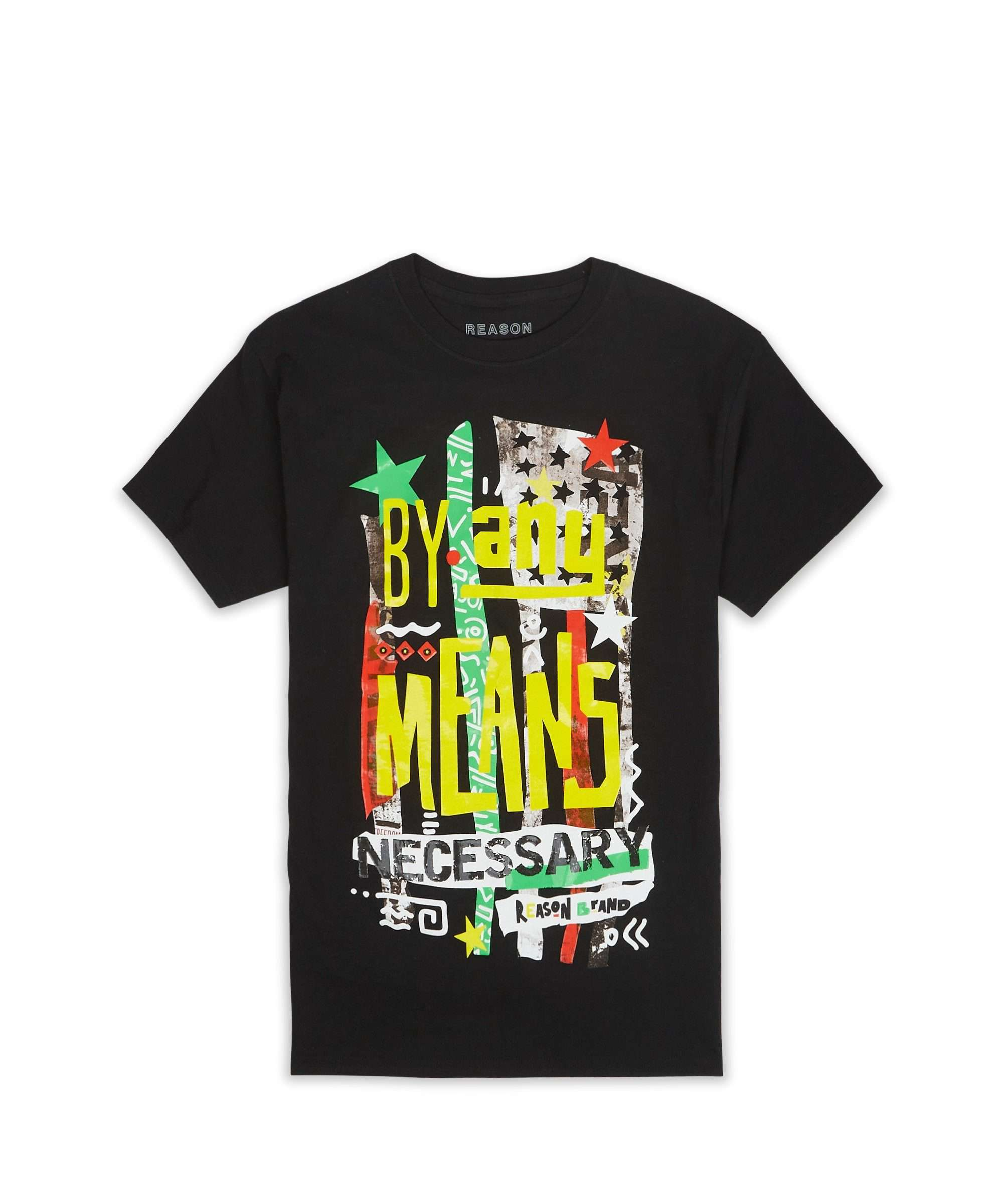 BY ANY MEANS NECESSARY TEE - BLACK Reason Clothing