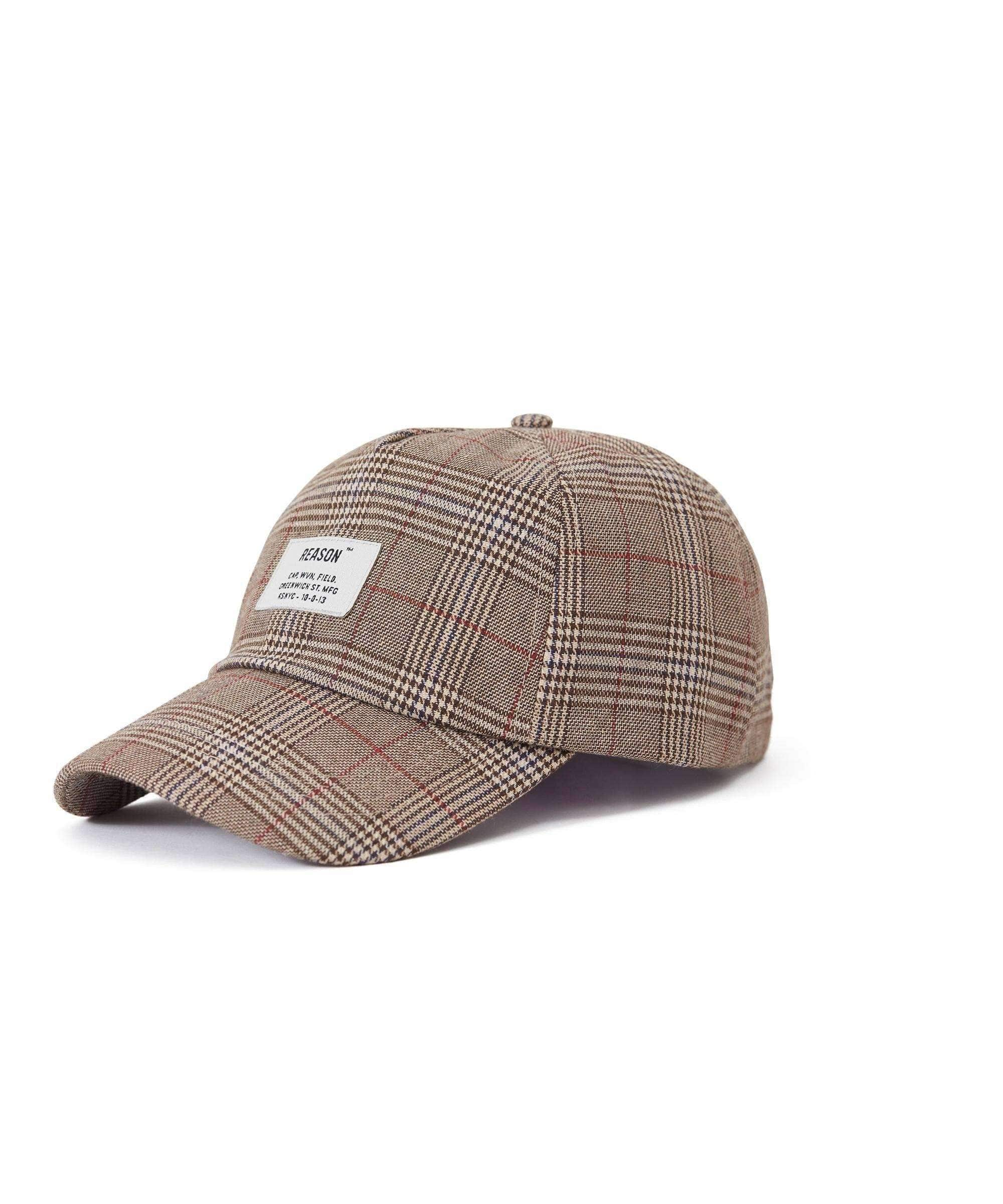 CHECK CAP - BEIGE - Reason Clothing