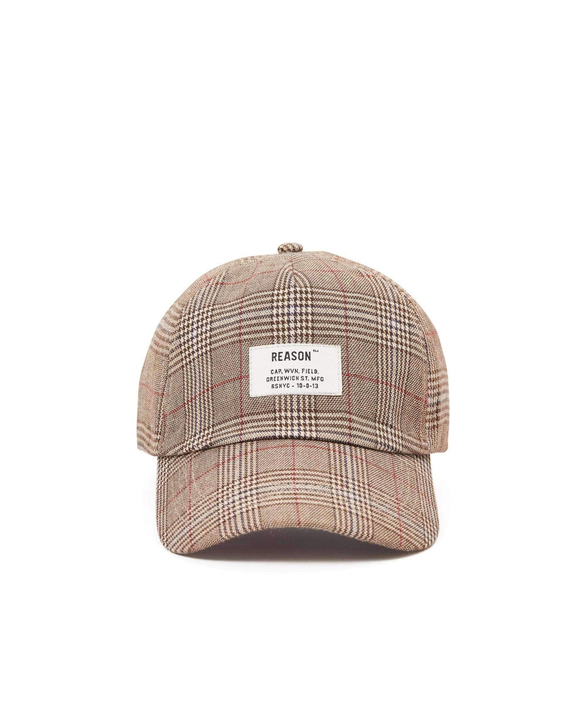 CHECK CAP - BEIGE Reason Clothing