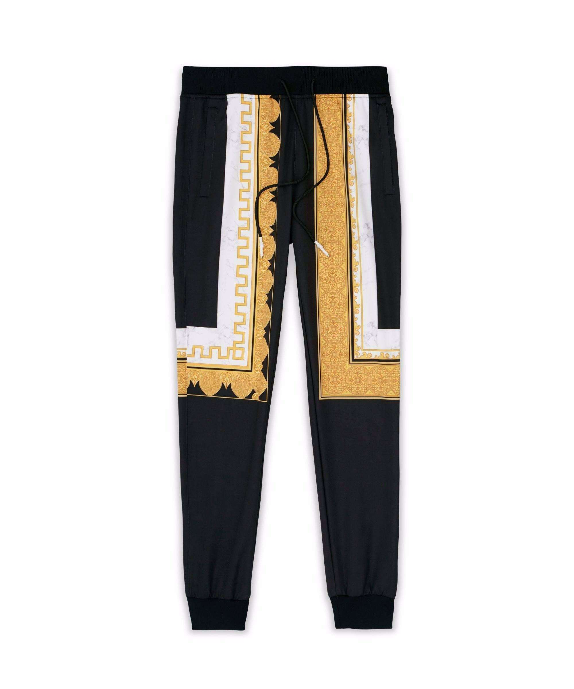 MARBLE & GOLD TRACK PANTS