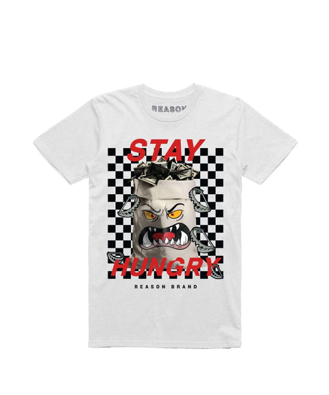 STAY HUNGRY TEE - WHITE