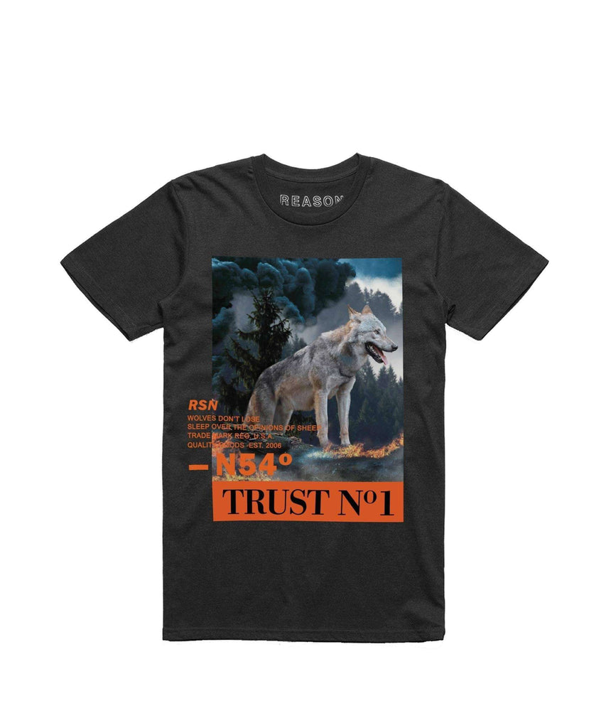 WOLF TEE - BLACK Reason Clothing