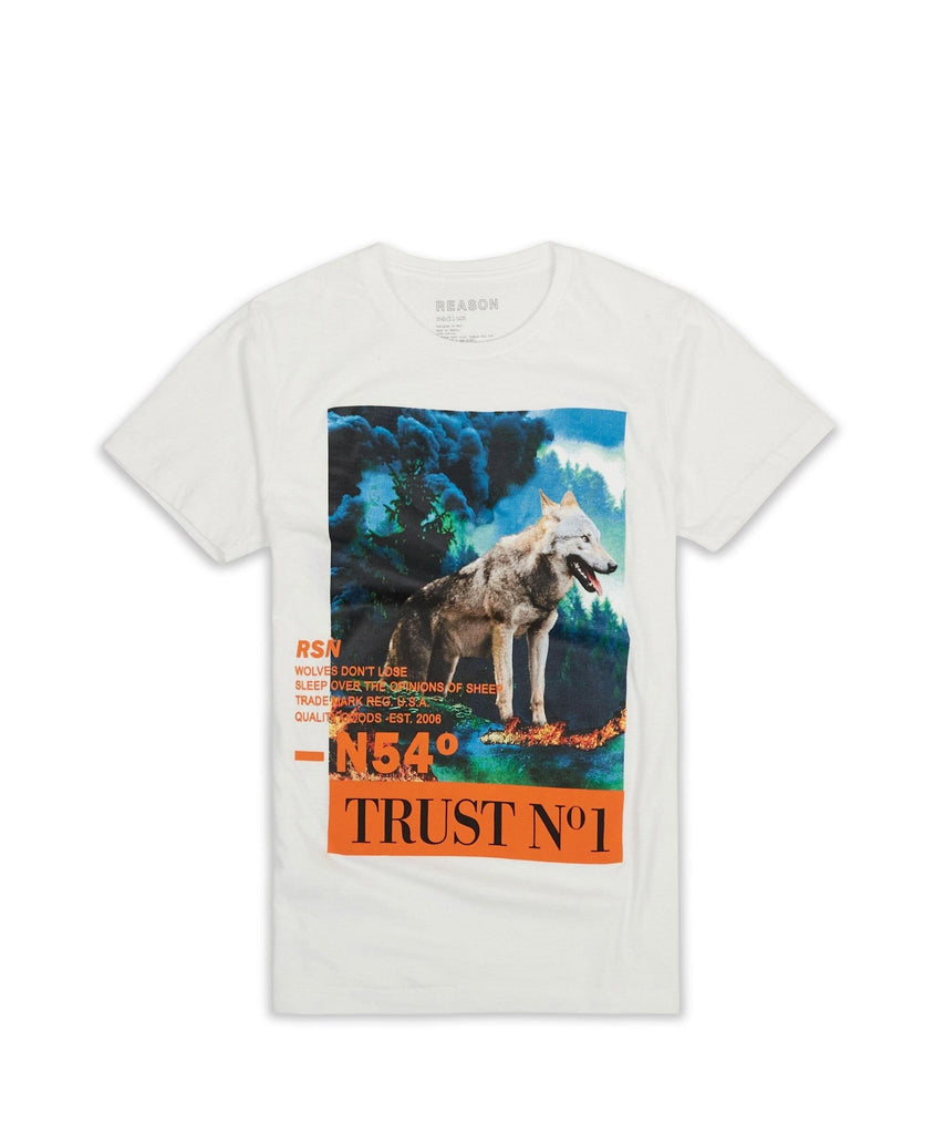 WOLF TEE - WHITE Reason Clothing