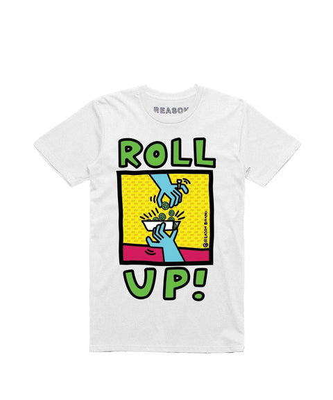 ROLL UP TEE - WHITE