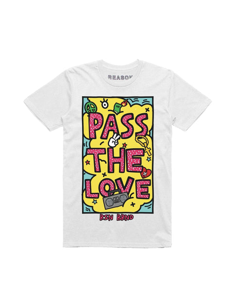 PASS THE LOVE TEE - WHITE