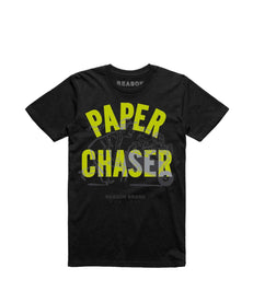 PAPER CHASER TEE - BLACK Reason Clothing