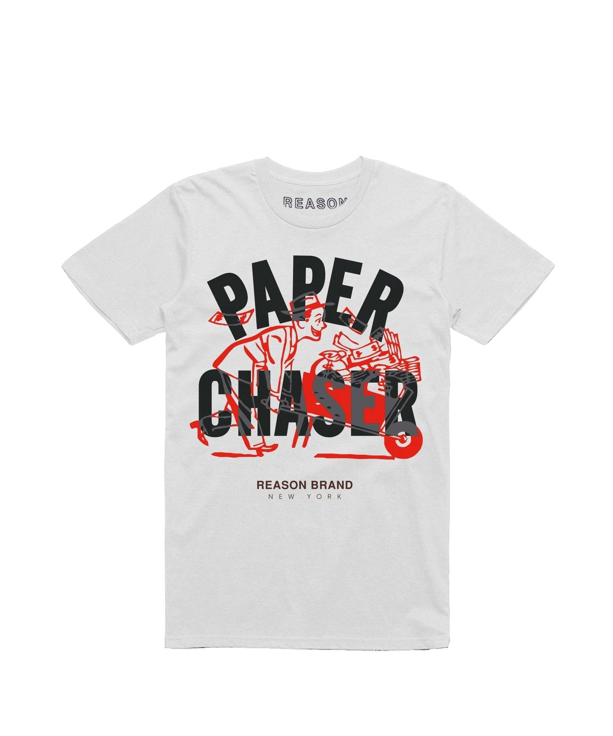 fb7b12dc778 PAPER CHASER TEE - WHITE – Reason Clothing