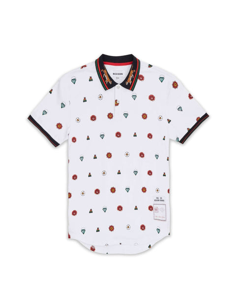 DIAMOND PRINT POLO - Reason Clothing