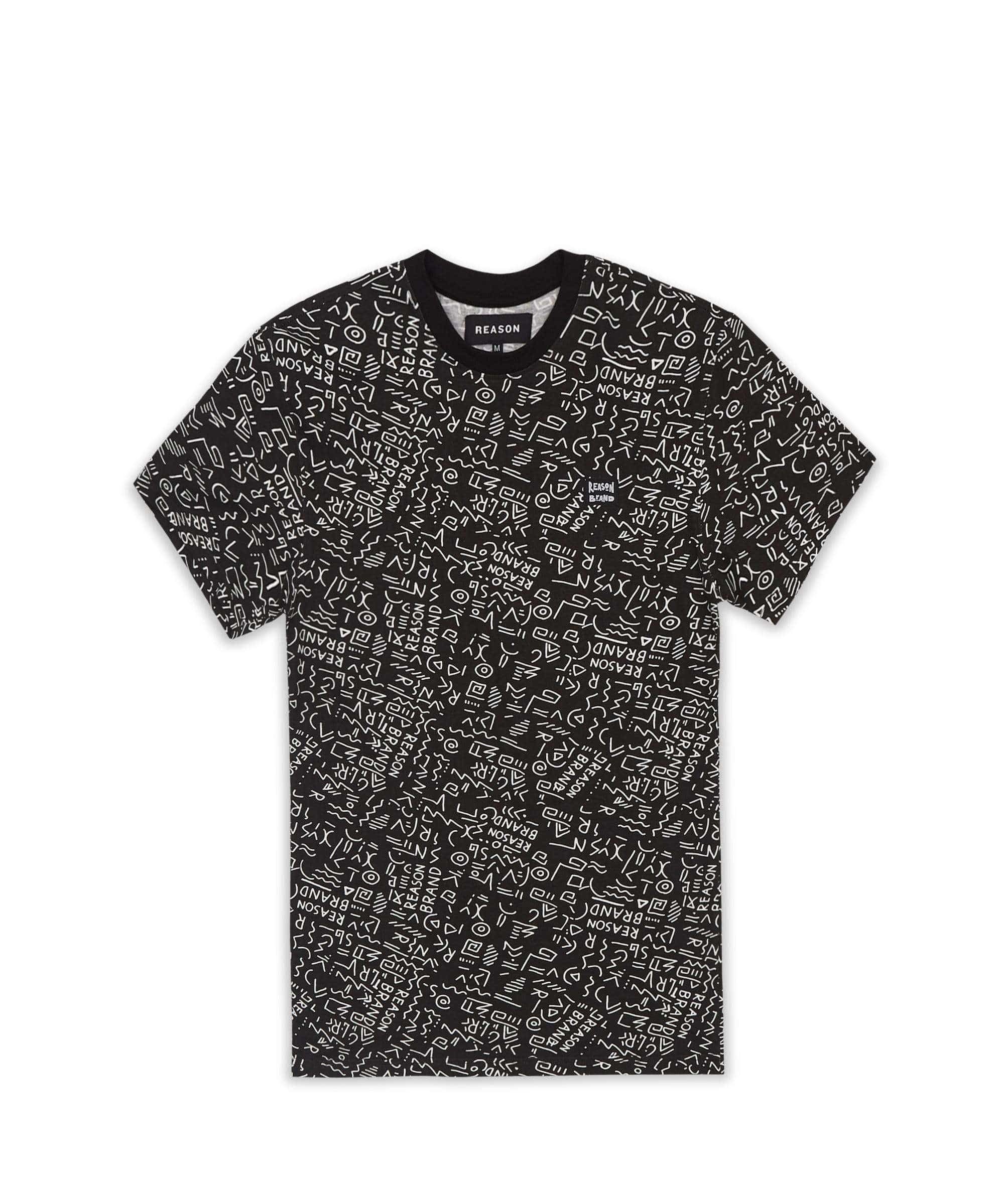 ANCIENT STATIC TEE - BLACK Reason Clothing