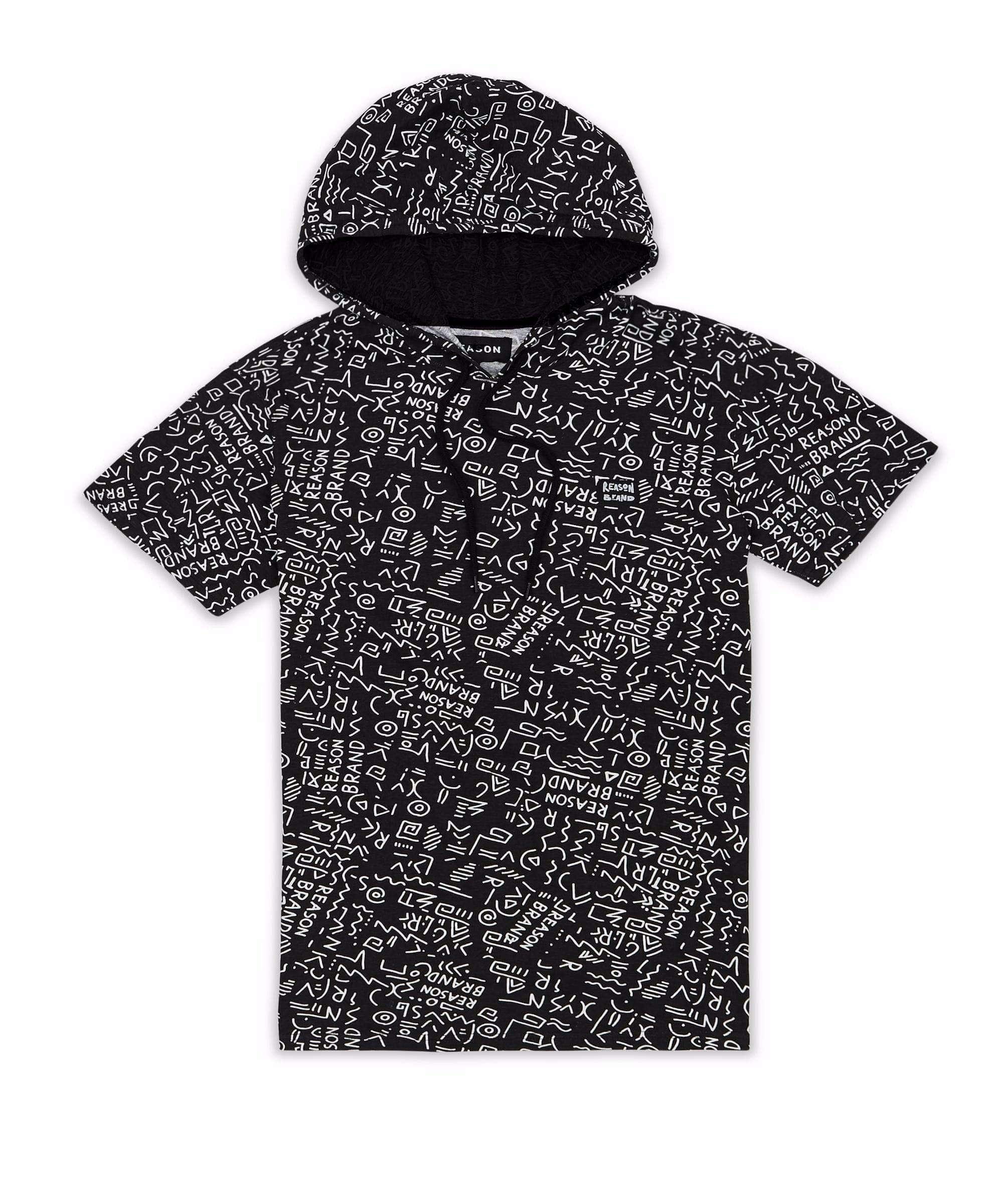 ANCIENT STATIC SS HOODIE - BLACK Reason Clothing