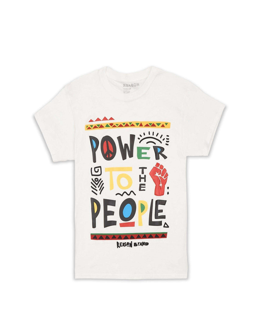 POWER TO THE PEOPLE TEE - WHITE Reason Clothing