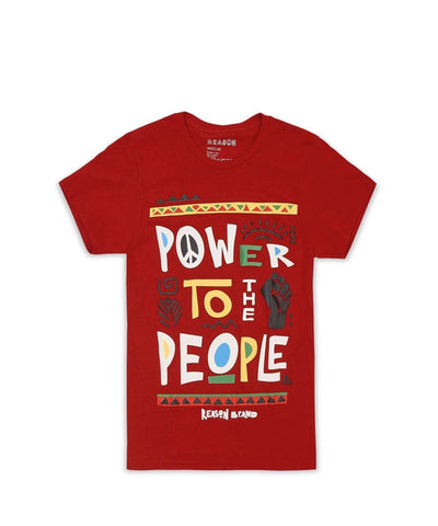 POWER TO THE PEOPLE TEE - RED Reason Clothing