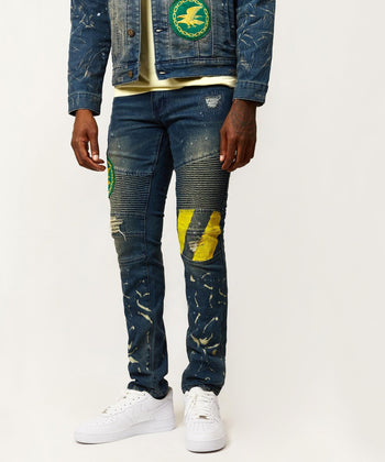 INDIGO FIRE DENIM JEANS