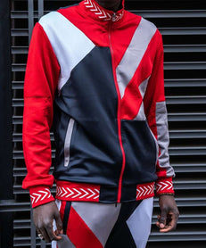 COURTSIDE TRACK JACKET - RED Reason Clothing