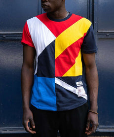 COURTSIDE TEE - BLUE/YELLOW Reason Clothing