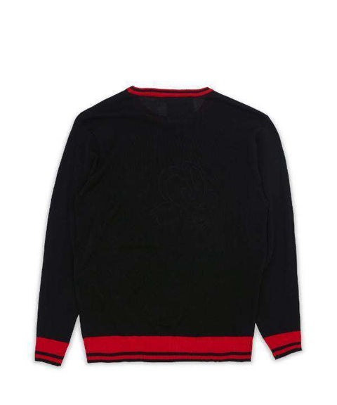 DYNASTY STRIPE KNIT SWEATER - BLK Reason Clothing
