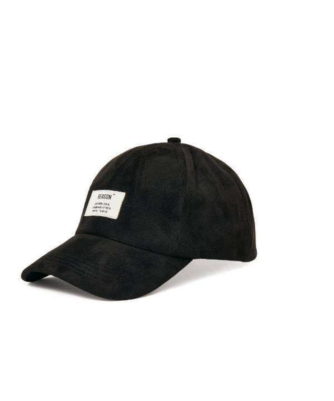 BLACK SUEDE CAP - Reason Clothing