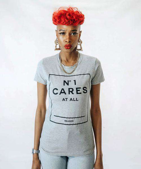 WOMEN'S NO1 CARES BOX TEE - HEATHER GREY