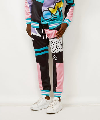 PARTY BLOCK TRACK PANTS