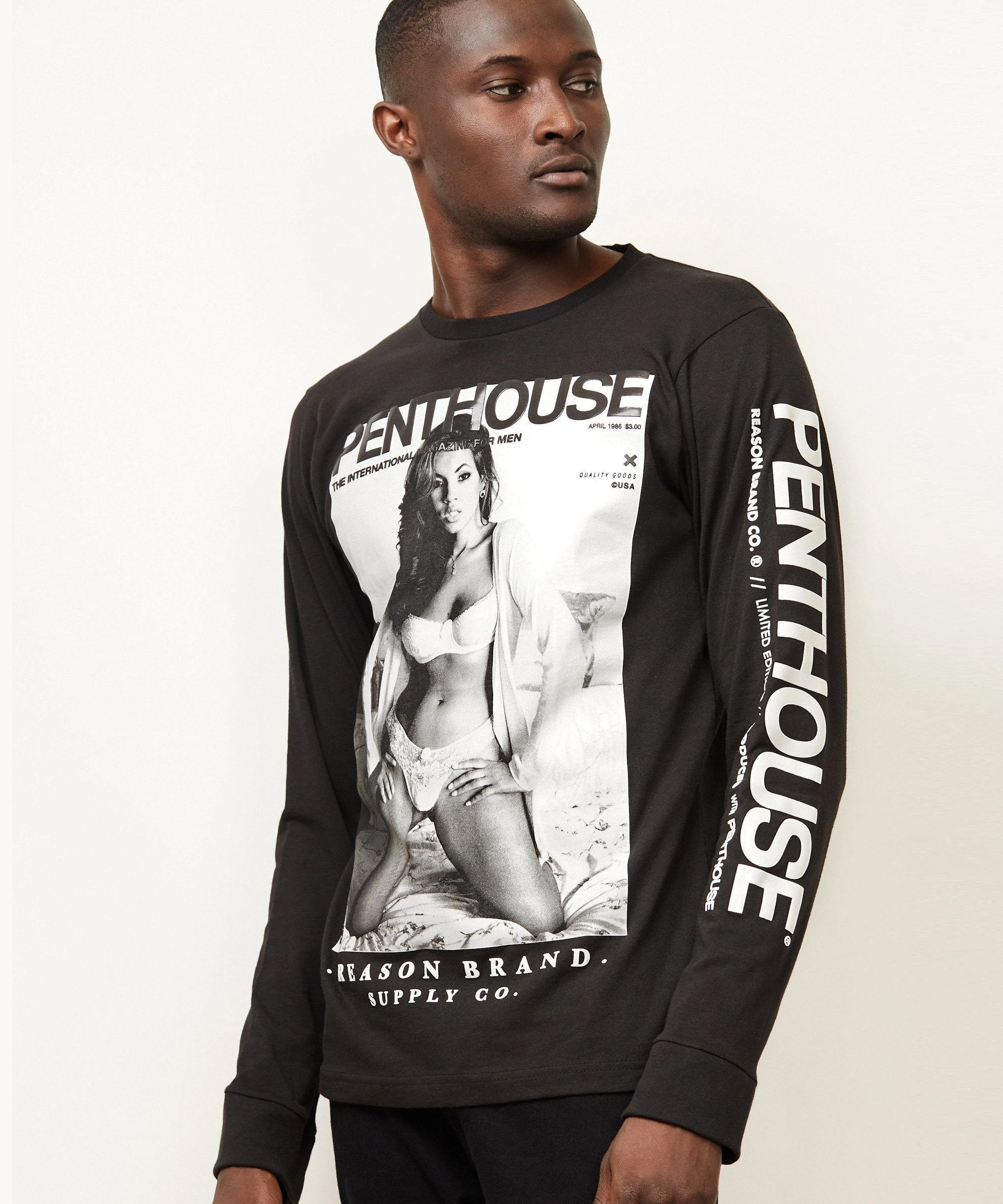 PENTHOUSE IN THE BED LS TEE Reason Clothing
