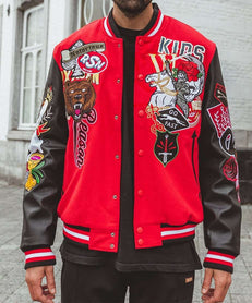 REGIONALS VARSITY JACKET - RED Reason Clothing