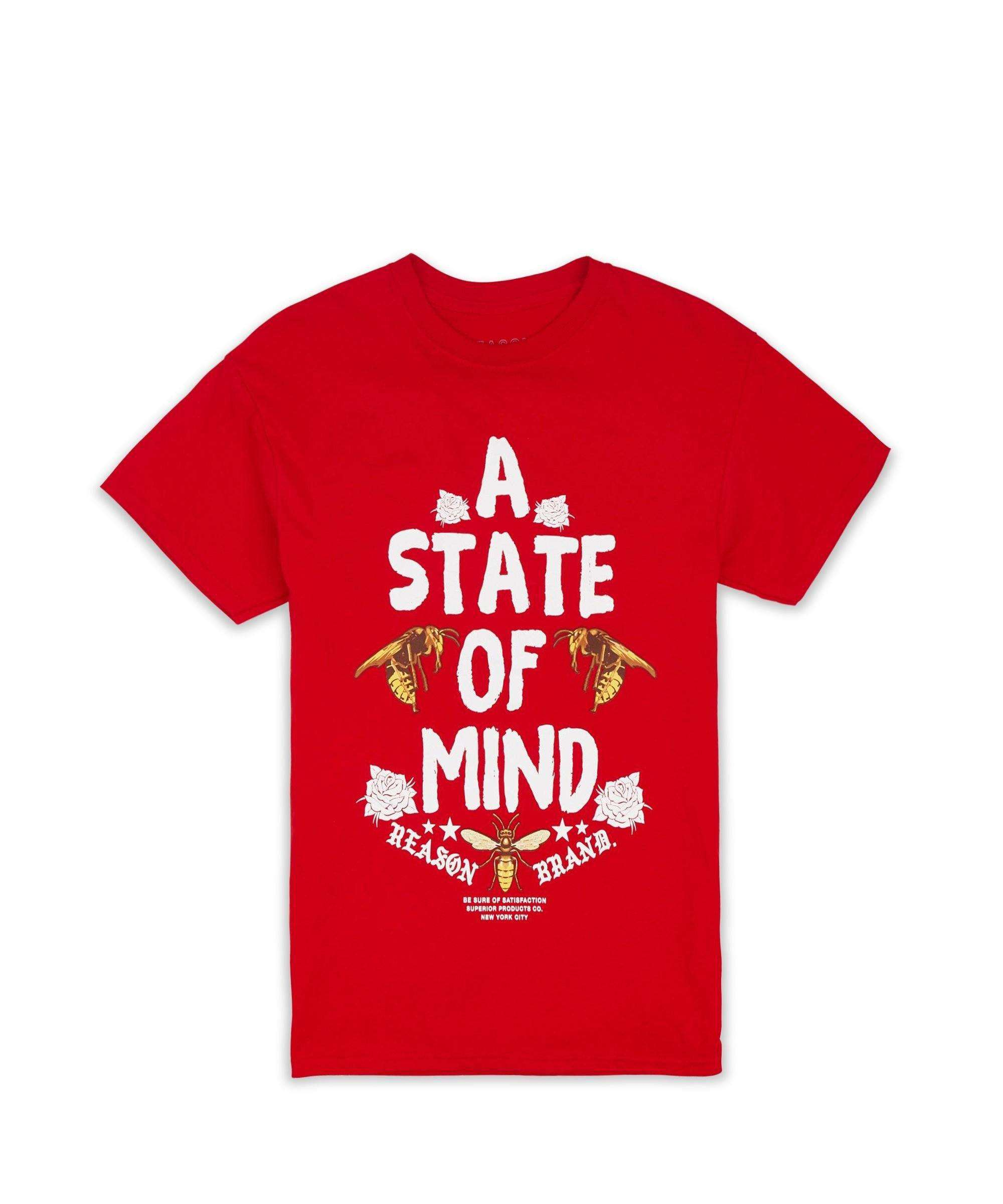 STATE OF MIND TEE-RED - Reason Clothing