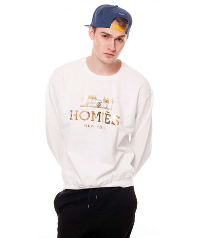 Homies New York Crewneck - White/Gold