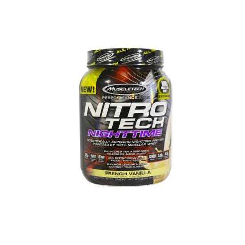 MuscleTech Nitro Tech NightTime 0.9kg - Hyper Bulk Nutrition