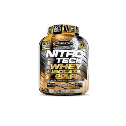 MuscleTech Nitro Tech Whey Plus Isolate Gold 1.8 kg - Hyper Bulk Nutrition