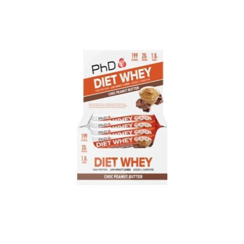 PhD Diet Whey 12 Bars - Hyper Bulk Nutrition