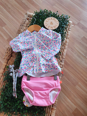 Miss Seaside Pink - Swim Pants & Rashey