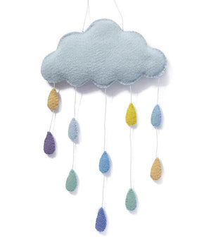 Cloud Wall Hanging - Blue & Pink