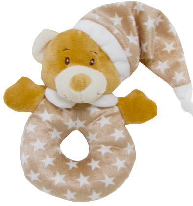 Star Bright Rattle Ring Teddy Bear