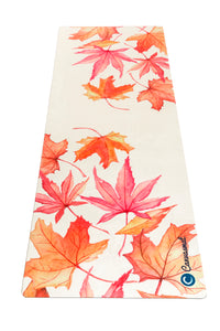 BED OF LEAVES - Eco Yoga Towel - Canvasmat