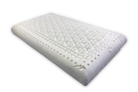 Natural Latex Low Loft Pillow with Soap Bar Pattern