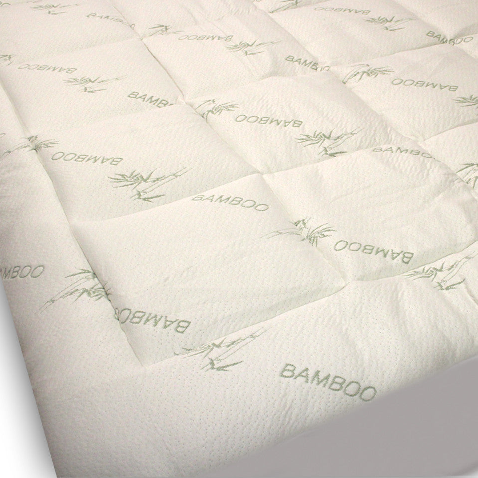 Extra Plush Bamboo Fitted Mattress Pad-Snug Fit Topper - MyOrganicSleep
