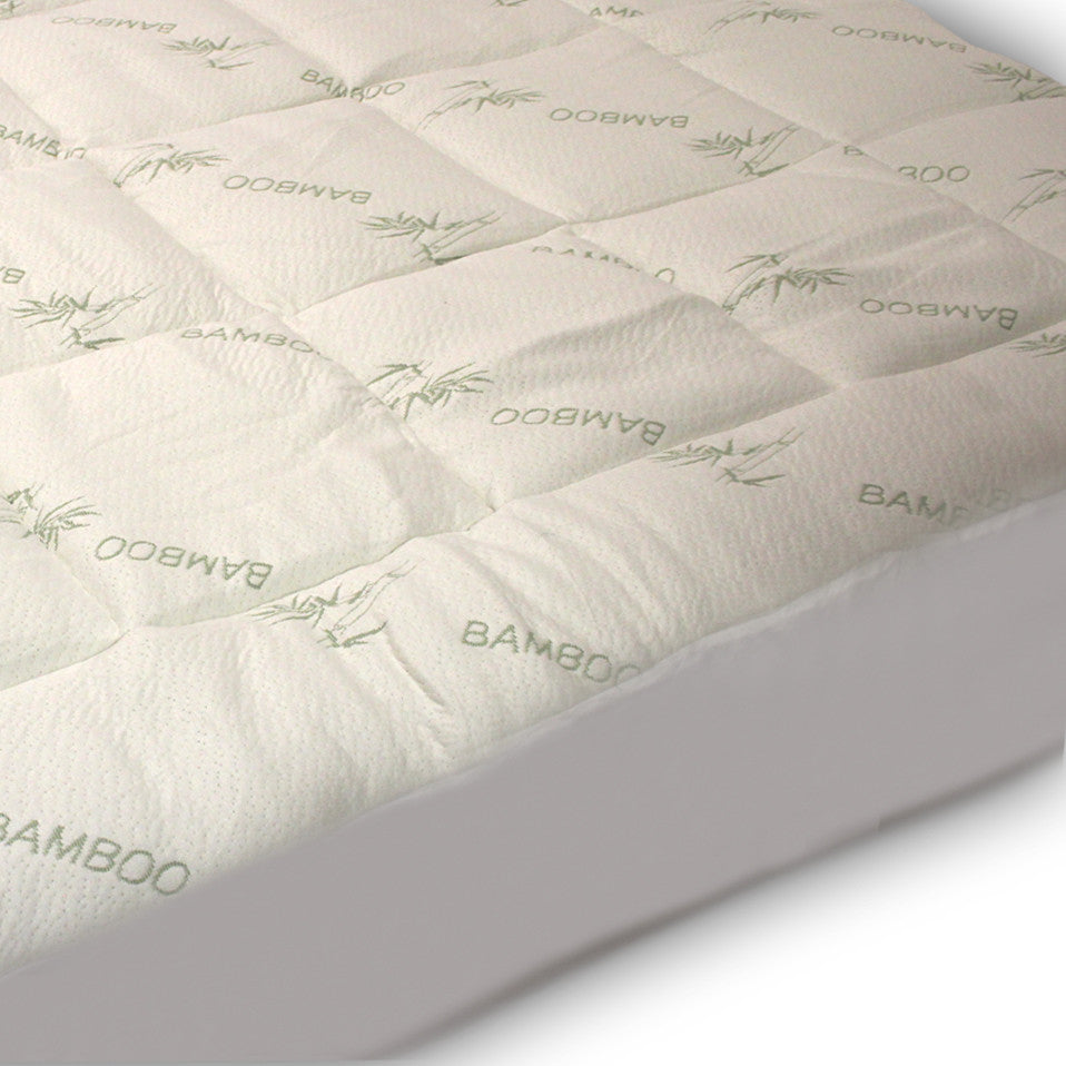 Mattress Cover.Extra Plush Fitted Bamboo Mattress Pad Snug Fit Topper