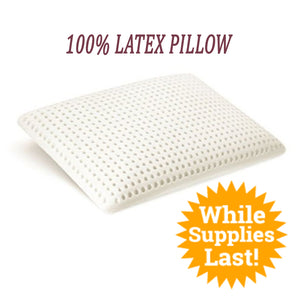 Standard Latex Pillow No cover (Free for order >$199.00 Only) - MyOrganicSleep