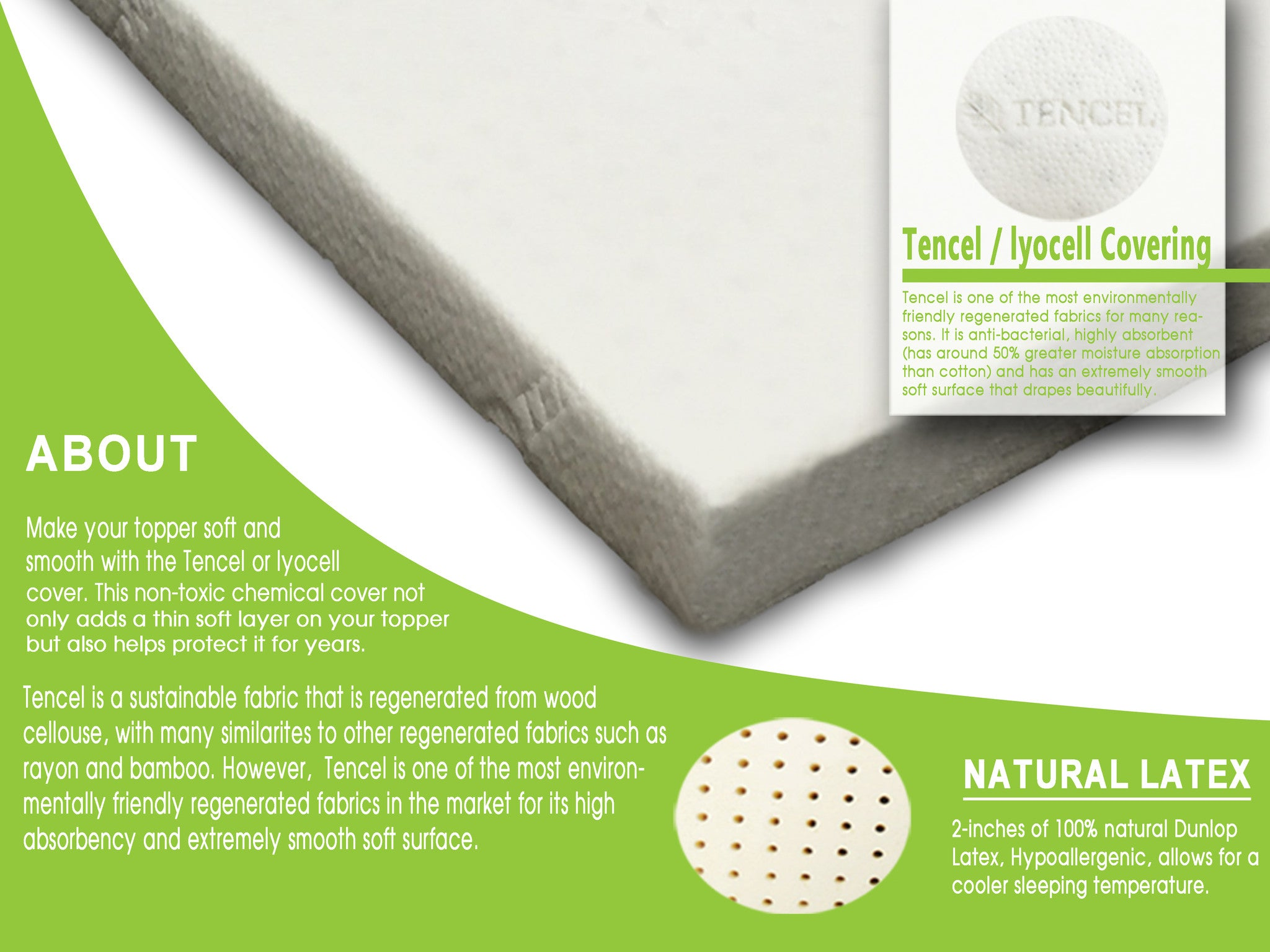 Latex Mattress Topper 2 Quot All Natural Support System
