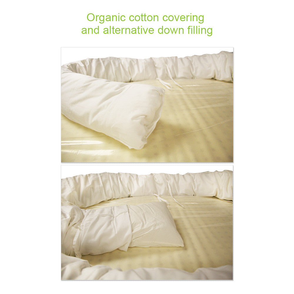 front organic nest products bedding crib cribmattress low pad mattress