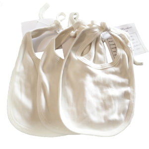 Organic Cotton Baby Newborn Cap and Bib - pack of 3 - MyOrganicSleep