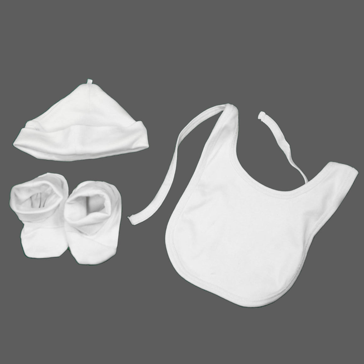 NEWBORN BABY: CAP, BIB and BOOTIES - MyOrganicSleep