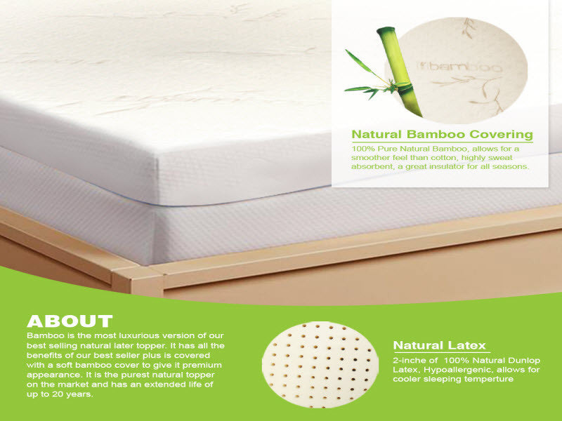 Latex Mattress Topper 2 All Natural Support System My Organic Sleep