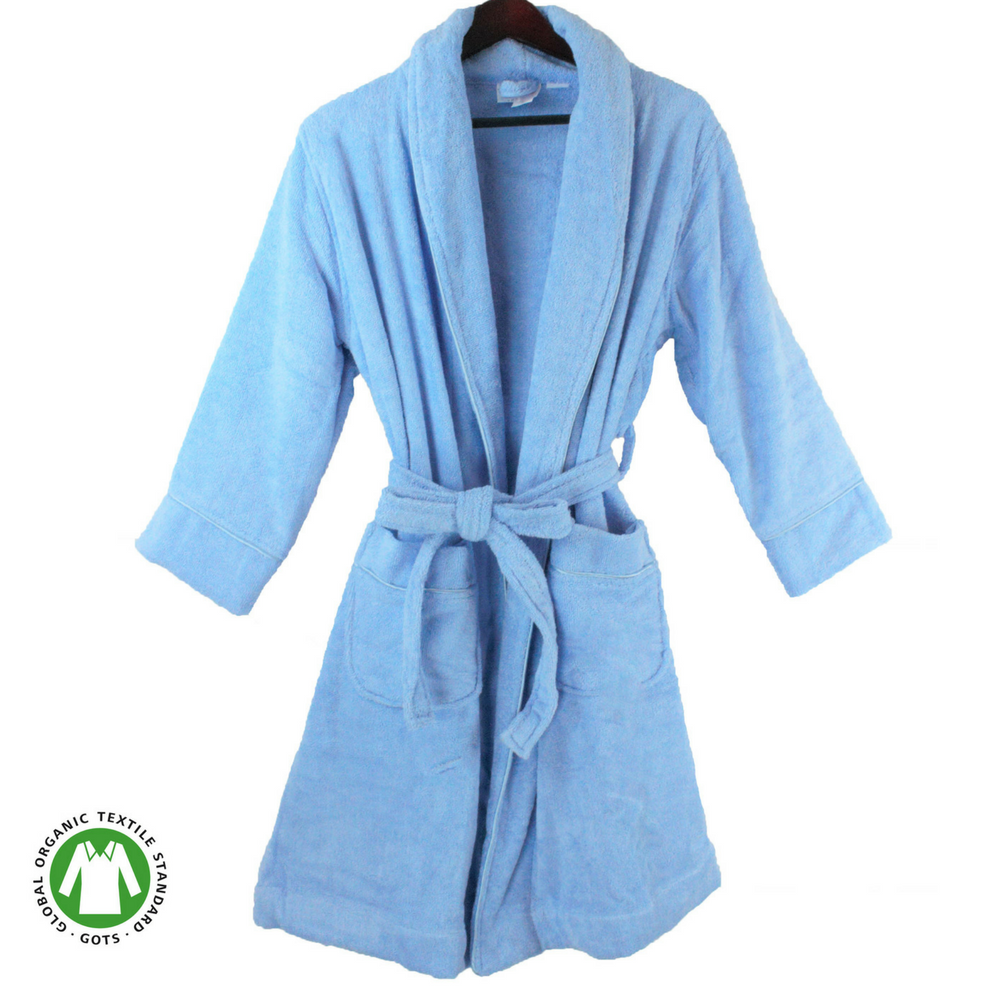 705354e45b Organic Cotton Terry Bathrobe - MyOrganicSleep